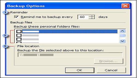 backing up outlook 2